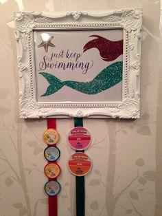 Displaying swimming badges