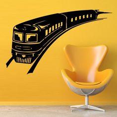 Wall Decal Art Decor Decals Sticker Train Locomotive Wagon Road Rails Fast Room (M889) DecorWallDecals http://www.amazon.com/dp/B00IBA4NL8/ref=cm_sw_r_pi_dp_Cpp2ub049JW9M