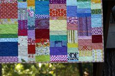 Rachel: quilting the Rainbow quilt