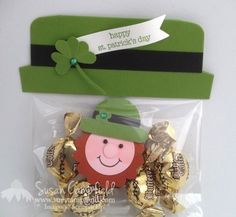 St. Patrick's Day Hat Treat Bag With Leprechaun  Stamps: Teeny Tiny Wishes
