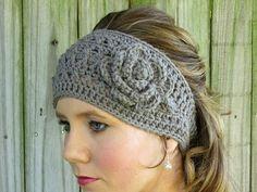 crochet winter headband.  I really want one of these!!