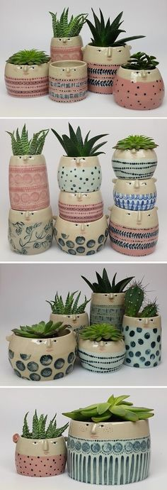 Ceramic Pots / The Pottery ParadeYou can find Ceramic pottery and more on our website.Ceramic Pots / The Pottery Parade Diy Ceramic, Ceramic Pots, Ceramic Pottery, Pottery Art, Handmade Ceramic, Painted Pottery, Painted Pots, Pottery Painting, Ceramic Painting