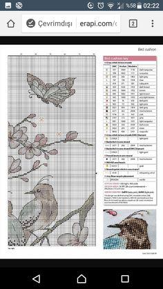 Cross Stitch Bird, Cross Stitch Designs, Drop Cloths, Cross Stitch Embroidery, Flower, Craft, Punto De Cruz, Throw Pillows, Embroidery