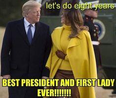 President Trump/ First Lady Melania Trump Donald Trump, Donald And Melania Trump, First Lady Melania Trump, Greatest Presidents, Us Presidents, Trump Is My President, Vote Trump, Pro Trump, Trump Wins