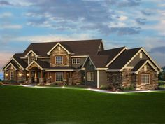 Traditional House Plan Front of Home for Home Plan also known as the Elk Trail Rustic Luxury Home from House Plans and More. Rustic House Plans, Luxury House Plans, Craftsman House Plans, Dream House Plans, House Floor Plans, My Dream Home, Dream Homes, Craftsman Style, 6 Bedroom House Plans