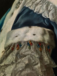 Jacopo Amigoni, 1682 Venice or Naples - 1752 Madrid, within PORTRAIT OF A LADY IN BLUE DRESS #Art #Detail