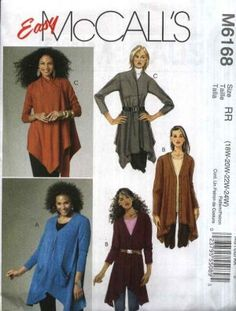 simple sewing for women | McCall's Sewing Pattern 6168 Womens Plus Size 18W-24W Easy Long ...
