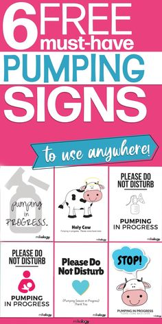 No matter how many times you tell the rest of the house you are pumping, someone always walks in!  But stop them by downloading these free door signs that tell everyone in the house you are pumping and to stay out - in a cute and nice way!