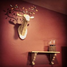 Modern Rustic Home Decor Ideas...Decorating my house, not yet finished but I absolutely love this deer head I found at Home Goods!!!