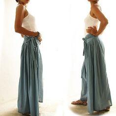 Wild side pants...Blue floral