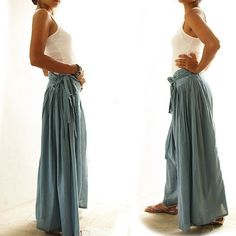 Wild side pants...Mint mix silk SL by cocoricooo on Etsy