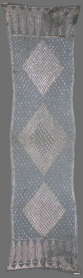 One of Two Shawls With Silver Decoration on Netting  Textile  Turkish, 19th century ASYUT