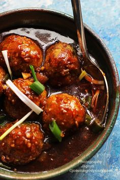Jagruti's Cooking Odyssey: Soya Veg Manchurian - Low Fat Version #Indo Chinese #SwwetandSpicy