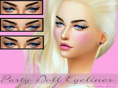 Baarbiie-GiirL's Party Doll Eyeliner | Sims 4 Updates -♦- Sims Finds & Sims Must Haves -♦- Free Sims Downloads