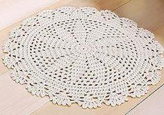 tapete de croche Crochet Placemats, Crochet Potholders, Crochet Quilt, Crochet Squares, Thread Crochet, Love Crochet, Irish Crochet, Lace Knitting, Crochet Doilies