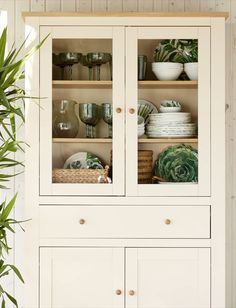 The catalog of Outdoor Living is here - Create small atmospheres with summer charm. Kitchen Display Cabinet, Glass Kitchen Cabinet Doors, Kitchen Dresser, Kitchen Cabinets Decor, Kitchen Furniture, China Cabinet, Home Furniture, Dining Room Cabinets, Dish Cabinet