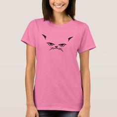 Grumpy cat face funny feline animal pet trend inte T-Shirt