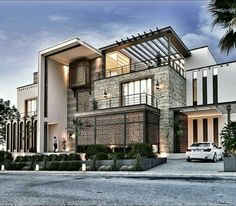 📌 34 Samples Of Modern Houses Most Popular Exterior Design Exterior Renovation Ideas That Are. - 📌 34 Samples Of Modern Houses Most Popular Exterior Design Exterior Renovation Ideas That Are Ri - Modern Villa Design, Modern Exterior House Designs, Dream House Exterior, Home Exterior Design, Modern Home Exteriors, Contemporary Design, Luxury Homes Exterior, Luxury Interior, Interior Modern