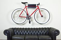 The Fixie bike denotes creativity, research and development always fascinating and interesting.    So why put these masterpieces in a basement ?     A.I:D Bike Holder is for preserving the work of art.      Materials used:  Birch plywood, sp mm15, stained or natural, painted semi-gloss clear finish.