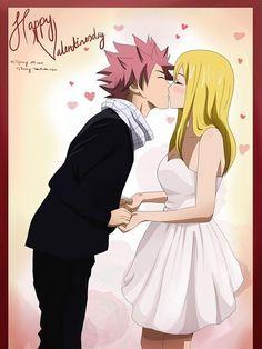 Happy Valentines day! From Natsu and Lucy.. @dgrayson3141 @jdbunting14 @rcjc1208
