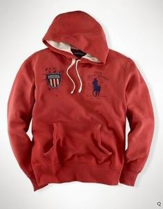 Ralph Lauren Red Big Pony Refined GBR Symbol Navy Short Sleeved