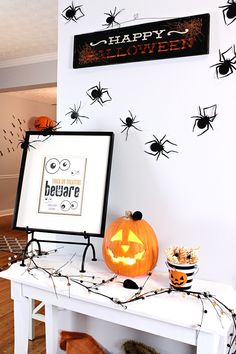 Buttercream™ Chalk Paint Furniture and Halloween Entryway