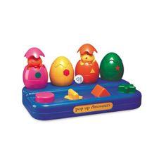 4 diferentes maneras de salir del cascaron de huevo. ¡Es divertido y fácil de usar! Ayuda a que los bebes reconozcan los colores y figuras.