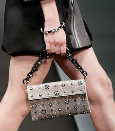 Prada Embellished Lizard Bag