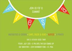 Personalized Fiesta Flags Invitations