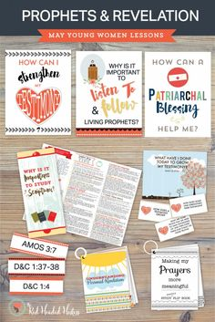 Prophets & Revelation: MAY Young Women Come Follow Me Printable teaching packages found at www.theredheadedhostess.com