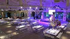 Decoración de eventos de empresa. Una cena cocktail en blanco