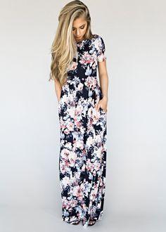 Navy Farrow Dawn Floral Dress
