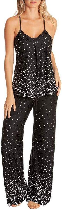 Jonquil In Bloom By Dot-Print Knit Pajama Set  Dot Bloom Jonquil e1364ffeb