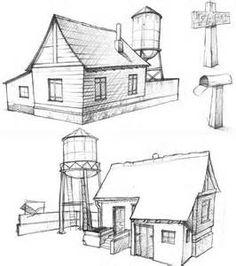 Drawings Of Farm Houses