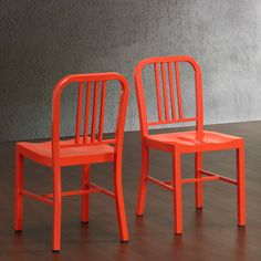 Tangerine Metal Side Chairs (Set of 2) - Overstock™ Shopping - Great Deals on Dining Chairs
