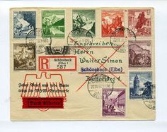 1938 3rd Reich special registered cover + cpl WHW set Flowers/ Ostmark Mi 675-83 - £32.50