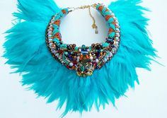 Gurmeet feather collar from our SS16 #tribevibe collection  by Anita Quansah London