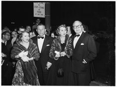 Gracie Allen, George Burns, Mary Livingstone & Jack Benny on their way to see Judy Garland perform.