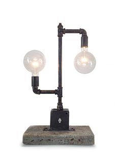 Edison Bulb Pipe Lamp - Indu... from IndustrialLightworks on Wanelo