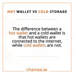 Hot wallets vs Cold wallets: What's the difference? Now you know! Start trading! 🚀🚀 👇👇👇👇 #chainex #chainexroadto200k #bitcoin #btc #hotwallets #coldwallets #crypto #cryptocurrency #altcoin #eth #assets #elonmusk #tothemoon #ethereum