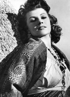 "Rita Hayworth in ""The Loves of Carmen"""