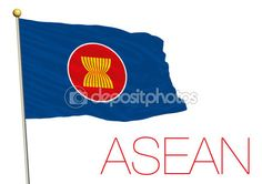 ASEAN, associazione di nazioni sud-est asiatico bandiera e simbolo — Vettoriali…