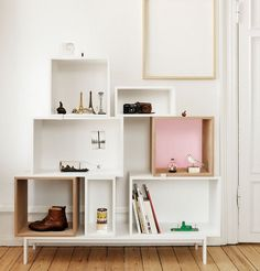 Buy Muuto Stacked Ash Shelf With Rose Backboard - Medium online with Houseology Price Promise. Full Muuto collection with UK & International shipping.