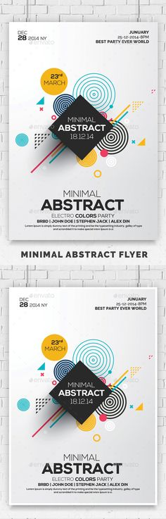 Minimal Abstract Flyer Templates - Events #Flyers