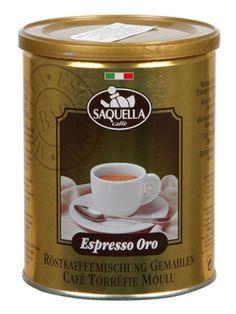 SAQUELLA 250g Espresso Oro Kawa mielona puszka  • dla wymagających kawoszy • palona średnio mocno • doskonale zrównoważona • bardzo aromatyczna
