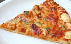 Have you ever been to a California Pizza Kitchen and had their signature BBQ Chicken pizza? Isn't it the best? So, when I found this rec. Ray's Pizza, Love Pizza, Pizza Food, Pizza Dough, Pizza Recipes, Chicken Recipes, Barbecue Pizza, Game Day Snacks, Food Dishes