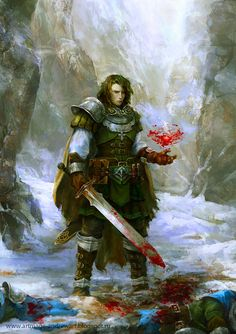 Blood Magic by Allnamesinuse on deviantART. A warrior who carefully guards his secret skill with blood magic.