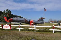 "Santa has had a ""little"" problem with an F-104"