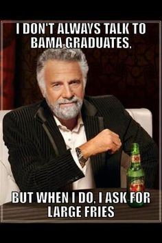 "HAHAHAHAHA - but I guess being a Penn State graduate, ""Pitt"" would be more appropriate."