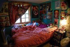 Ideas Bedroom Boho Cozy Decor Hippie For 2019 Room Ideas Bedroom, Bedroom Inspo, Bedroom Wall, Movie Bedroom, Hipster Bedroom Decor, Hippy Room, Chill Room, Teen Decor, Grunge Room